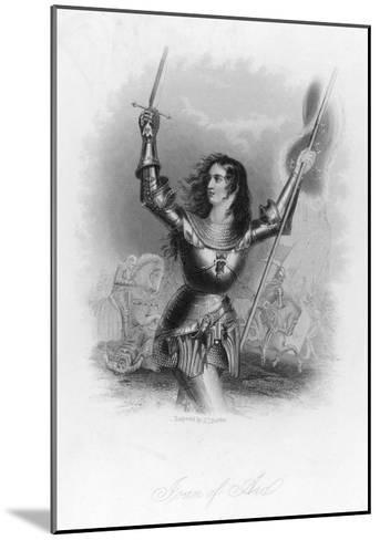 Joan of Arc French Heroine in Armour on the Battlefield-Jc Buttre-Mounted Giclee Print