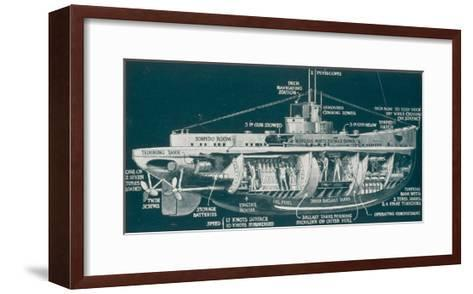 The U-30 Class of Untersee- Boot the Type Most Generally Used for Attacks on Shipping-S. Clatworthy-Framed Art Print