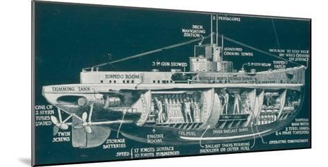 The U-30 Class of Untersee- Boot the Type Most Generally Used for Attacks on Shipping-S. Clatworthy-Mounted Giclee Print