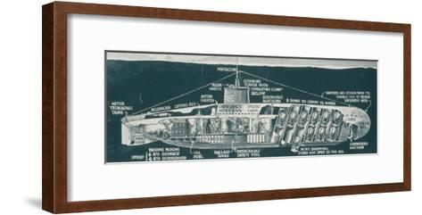 The Class of Untersee-Boot Most Generally Used for Mine- Laying-S. Clatworthy-Framed Art Print