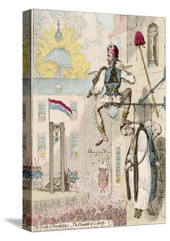 The Zenith of French Glory-James Gillray-Stretched Canvas Print
