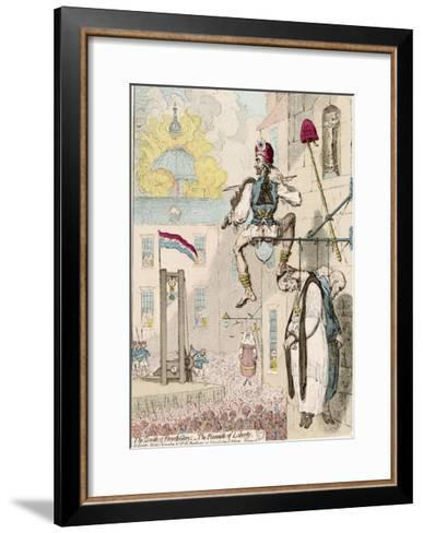 The Zenith of French Glory-James Gillray-Framed Art Print