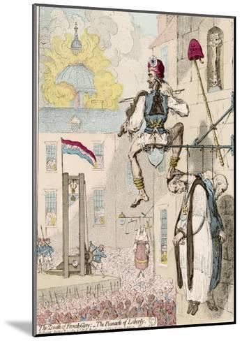 The Zenith of French Glory-James Gillray-Mounted Giclee Print