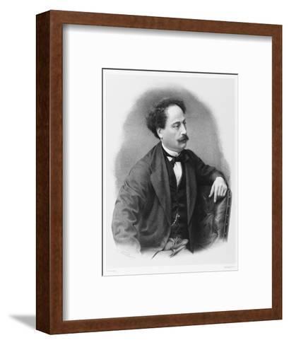 Alexandre Dumas Fils French Novelist-C. Fuhr-Framed Art Print