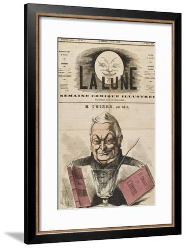 Louis-Adolphe Thiers French Statesman and Historian-Andr? Gill-Framed Art Print