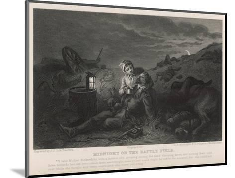Mother Bickerdyke a Nurse Seeks the Living Among the Dead-J.j. Cade-Mounted Giclee Print