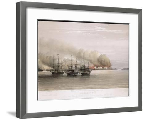 Bomarsund Bombarded-W. Browne-Framed Art Print