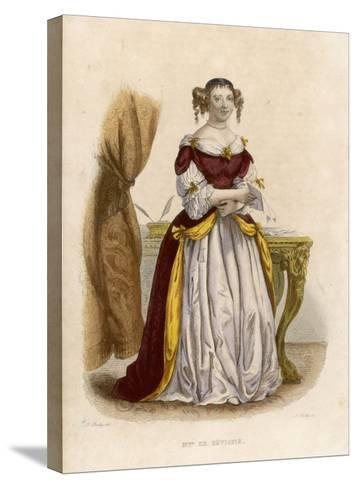 Marie De Rabutin-Chantal Marquise Known as Madame De Sevigne-A. Boilly-Stretched Canvas Print