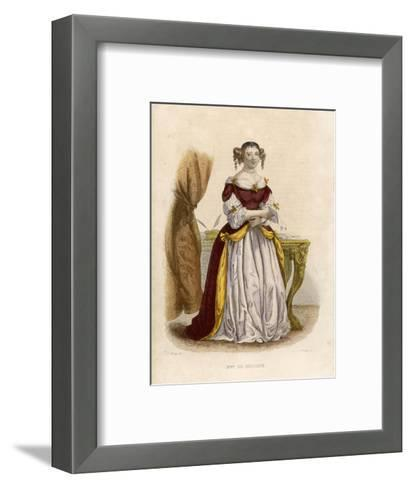 Marie De Rabutin-Chantal Marquise Known as Madame De Sevigne-A. Boilly-Framed Art Print