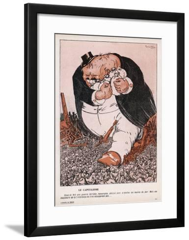 The Real Social Enemy is the Capitalist Who Tramples the People and Grabs the Gold-Galantara-Framed Art Print