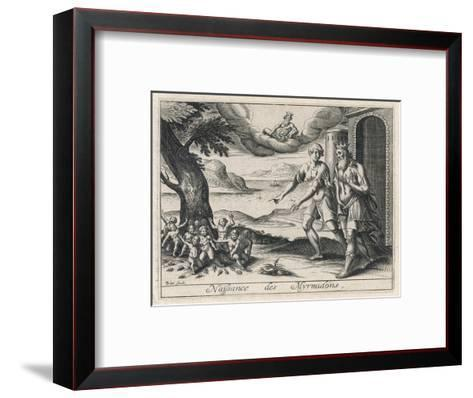 When Aegina is Depopulated by a Plague King Aescus Asks Zeus to Turn the Ants into People- Briout-Framed Art Print