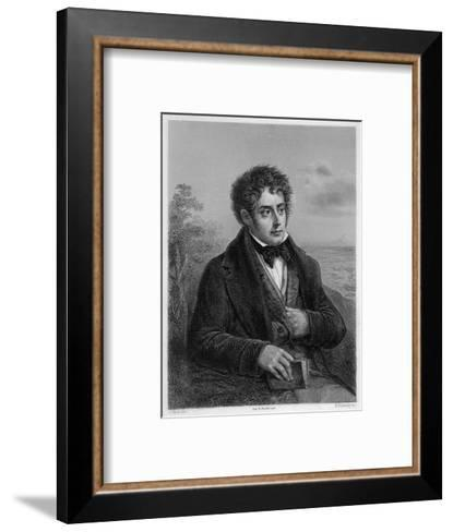 Francois-Rene Vicomte De Chateaubriand French Writer of Romantic Leanings- Delanoy-Framed Art Print