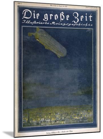 German Airship Hovers Menacingly Over Paris-Rodolf Czerny-Mounted Giclee Print