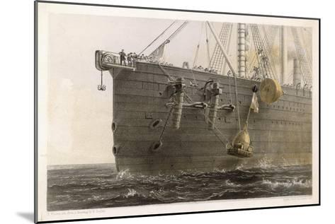 """When the Cable Breaks in Mid- Ocean a Buoy is Launched from the """"Great Eastern"""" to Mark the Spot-Robert Dudley-Mounted Giclee Print"""