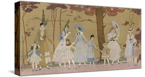 Summertime Fashions for Women and Girls by Paquin Doucet-Georges Barbier-Stretched Canvas Print
