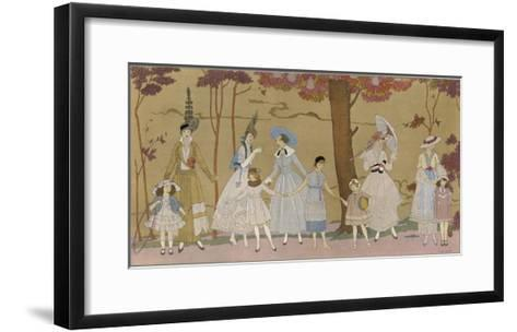 Summertime Fashions for Women and Girls by Paquin Doucet-Georges Barbier-Framed Art Print