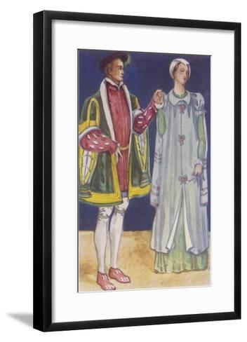 His Slashed Sleeves are Typical of the Period-Dion Clayton Calthrop-Framed Art Print
