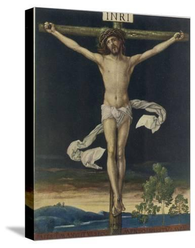 Jesus Crucified- Gefreuzigter-Stretched Canvas Print