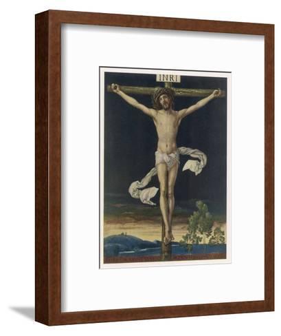 Jesus Crucified- Gefreuzigter-Framed Art Print