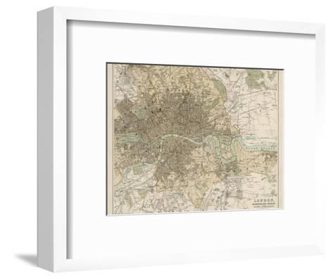 Map of London and Its Suburbs-J^ Bartholomew-Framed Art Print