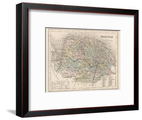 Map of Norfolk-James Archer-Framed Art Print