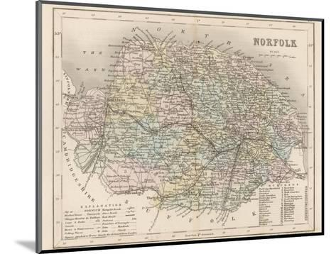 Map of Norfolk-James Archer-Mounted Giclee Print