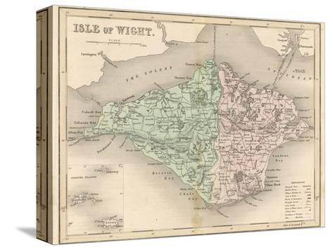 Map of the Isle of Wight-James Archer-Stretched Canvas Print