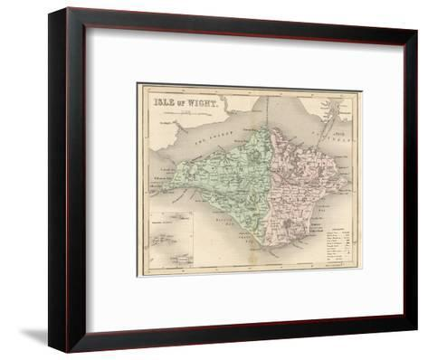 Map of the Isle of Wight-James Archer-Framed Art Print