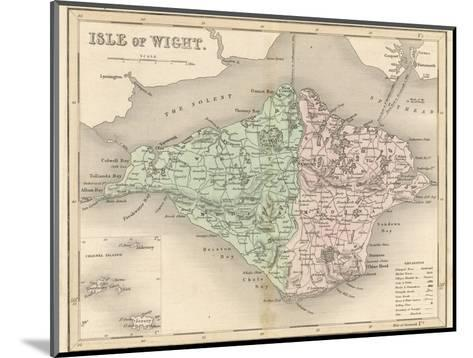 Map of the Isle of Wight-James Archer-Mounted Giclee Print