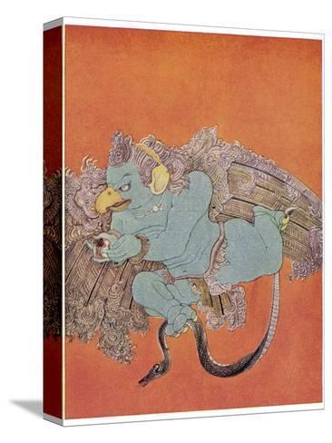 Garuda the Eagle Who Became Vishnu's Mount-Nanda Lal Bose-Stretched Canvas Print