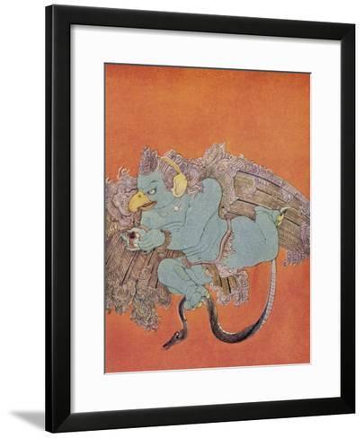 Garuda the Eagle Who Became Vishnu's Mount-Nanda Lal Bose-Framed Art Print
