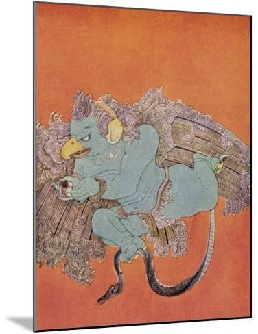 Garuda the Eagle Who Became Vishnu's Mount-Nanda Lal Bose-Mounted Giclee Print