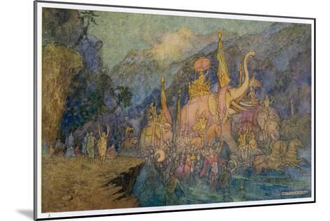 Heroes Rise from Ganges-Warwick Goble-Mounted Giclee Print