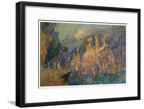 Heroes Rise from Ganges-Warwick Goble-Framed Art Print