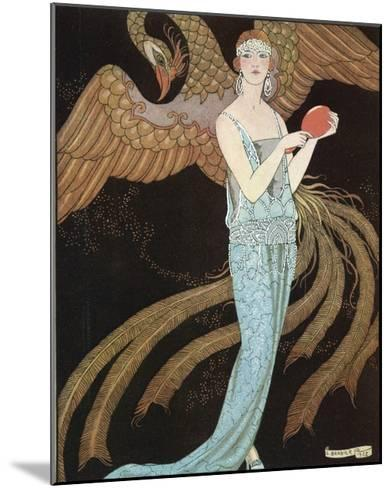 Blue Dress by Beer-Georges Barbier-Mounted Giclee Print