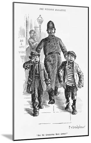 Jolly Plump Police Constable and His Tearful Prisoners-Percy Bradshaw-Mounted Giclee Print