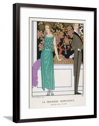 Jade Green Dress by Beer-Georges Barbier-Framed Art Print