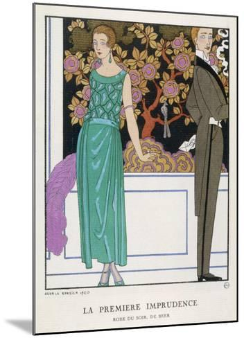 Jade Green Dress by Beer-Georges Barbier-Mounted Giclee Print