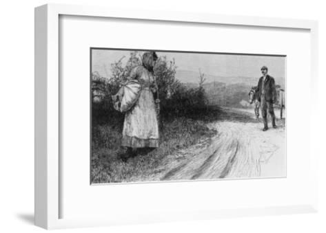 Tess's First Encounter with Alec D'Urberville-E. Borough-Framed Art Print