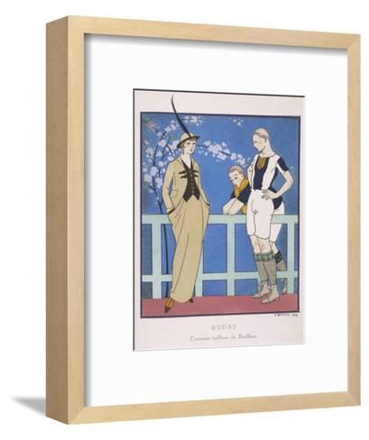 Tailor-Made by Redfern with Draped Skirt with Side Pockets Waistcoat and Jacket-Georges Barbier-Framed Art Print