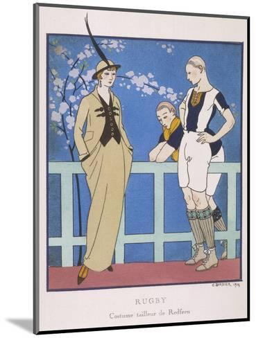 Tailor-Made by Redfern with Draped Skirt with Side Pockets Waistcoat and Jacket-Georges Barbier-Mounted Giclee Print