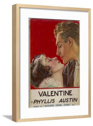 """Valentine"" (Phyllis Austin) They Kiss- Doco-Framed Art Print"