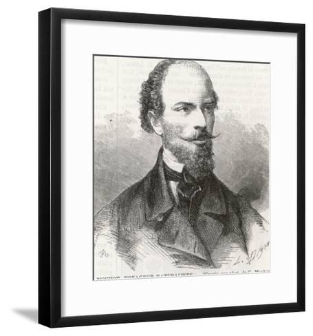 Henri Mouhot French Naturalist and Explorer-L. Dumons-Framed Art Print