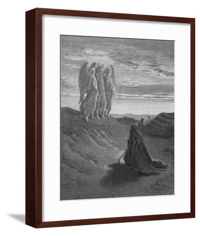 Three Angels Appear to Abraham and Inform Him of God's Intentions-Gustave Dor?-Framed Art Print