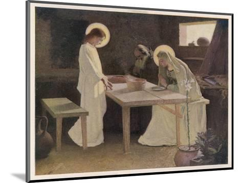 Jesus and His Parents at the Supper Table-Frank V. Du-Mounted Giclee Print