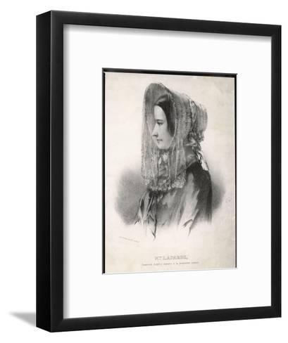 Madame Marie Lafarge Nee Cappelle at the Time of Her Trial in July 1840-Eric De Coulon-Framed Art Print