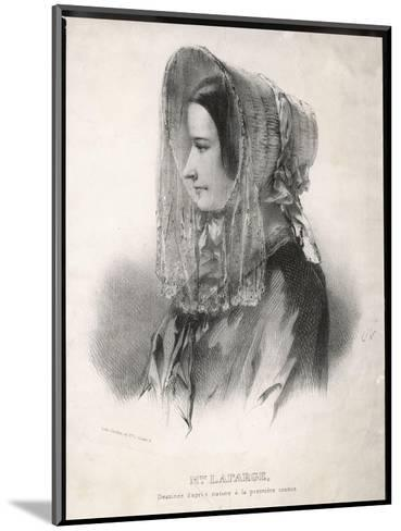 Madame Marie Lafarge Nee Cappelle at the Time of Her Trial in July 1840-Eric De Coulon-Mounted Giclee Print