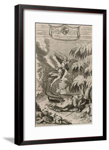 The Persecuted Prophet Elijah is Protected by an Angel Who Brings Him Food and Drink-P.p. Bouche-Framed Art Print