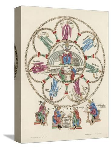 Philosophy Enthroned Surroun- -Ed by the Sciences-Engelhardt-Stretched Canvas Print