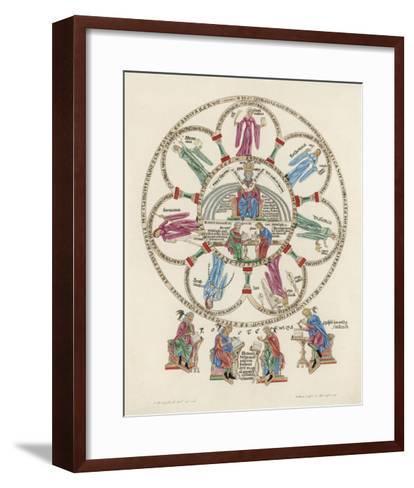 Philosophy Enthroned Surroun- -Ed by the Sciences-Engelhardt-Framed Art Print